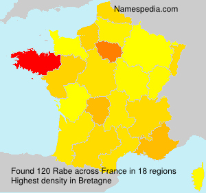Surname Rabe in France