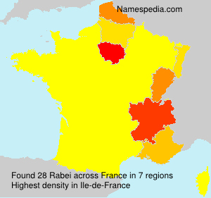 Surname Rabei in France