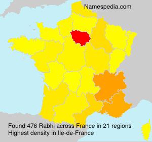 Surname Rabhi in France