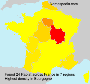 Surname Rabiat in France