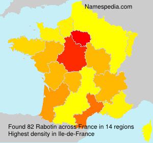 Surname Rabotin in France