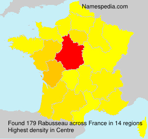 Surname Rabusseau in France