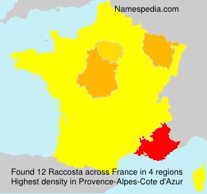 Surname Raccosta in France