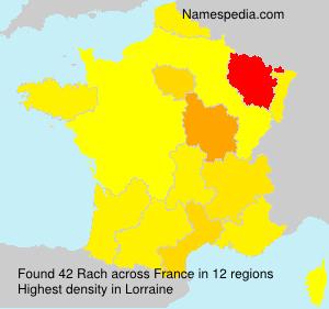 Familiennamen Rach - France