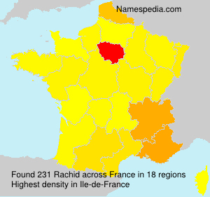 Surname Rachid in France