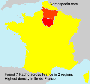 Surname Racho in France