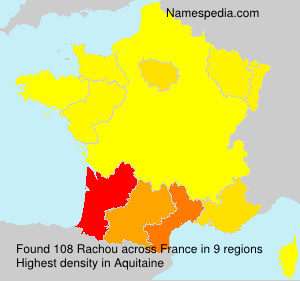 Surname Rachou in France