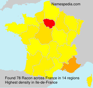 Surname Racon in France