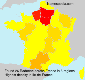 Surname Radanne in France