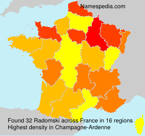Surname Radomski in France