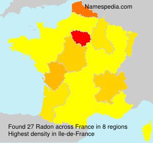 Surname Radon in France
