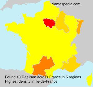 Surname Raelison in France