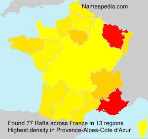Surname Raffa in France