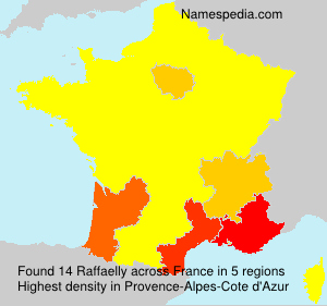Surname Raffaelly in France