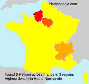 Surname Rafkani in France