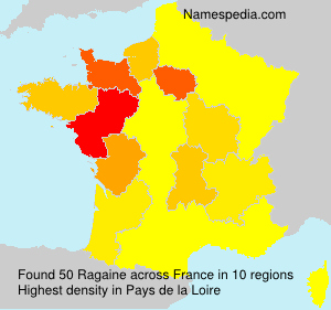 Surname Ragaine in France