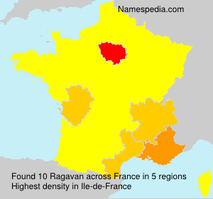 Surname Ragavan in France