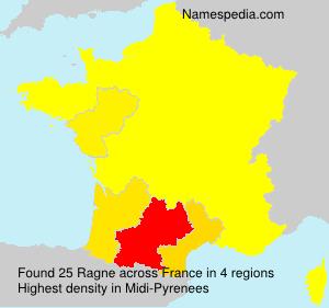 Surname Ragne in France