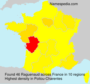 Surname Raguenaud in France