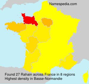 Surname Rahain in France