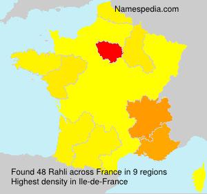 Familiennamen Rahli - France