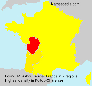 Surname Rahoul in France