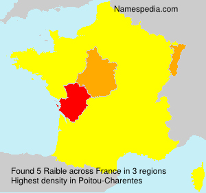 Surname Raible in France