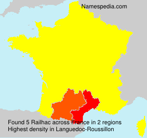 Surname Railhac in France