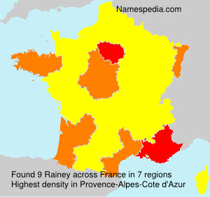Surname Rainey in France