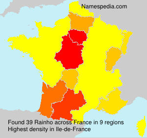 Surname Rainho in France