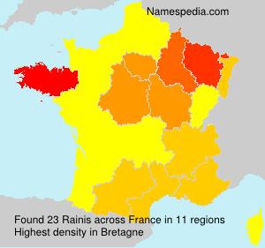 Surname Rainis in France