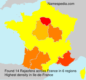 Surname Rajaofera in France