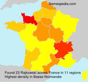 Surname Rajkowski in France