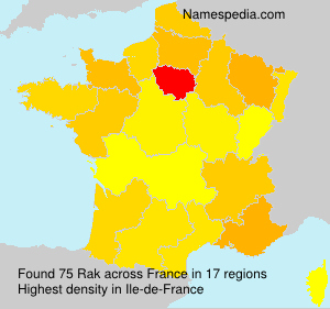 Surname Rak in France
