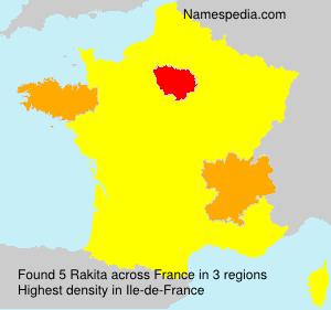 Familiennamen Rakita - France