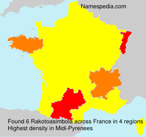 Surname Rakotoasimbola in France