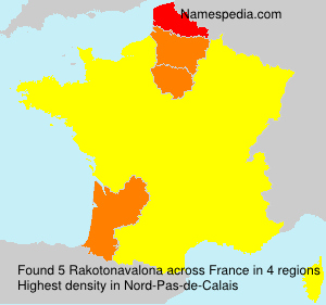 Surname Rakotonavalona in France