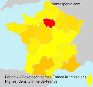 Surname Rakotoson in France