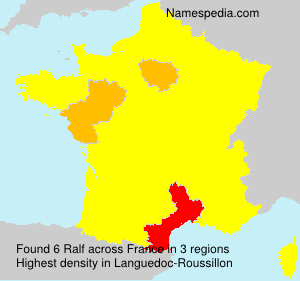 Surname Ralf in France