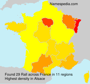 Surname Rall in France