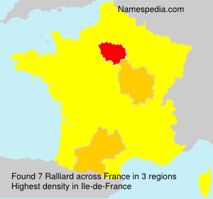 Familiennamen Ralliard - France