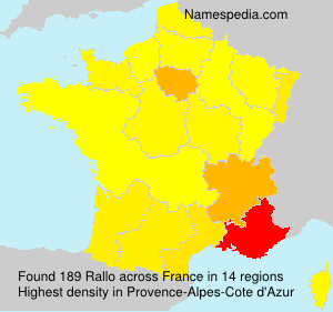 Surname Rallo in France