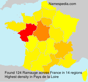 Surname Ramauge in France