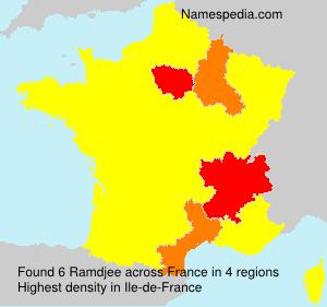 Surname Ramdjee in France
