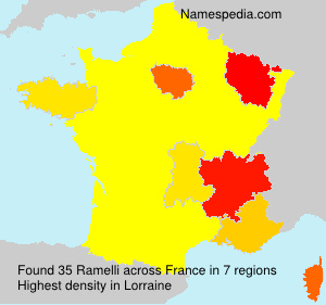 Surname Ramelli in France