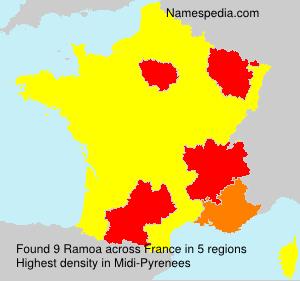 Familiennamen Ramoa - France
