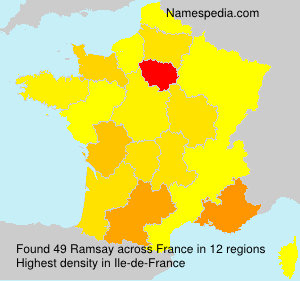 Surname Ramsay in France