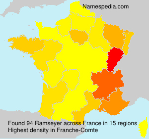 Surname Ramseyer in France