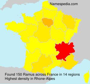 Familiennamen Ramus - France
