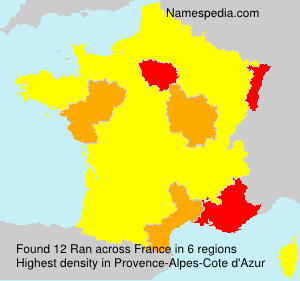 Surname Ran in France
